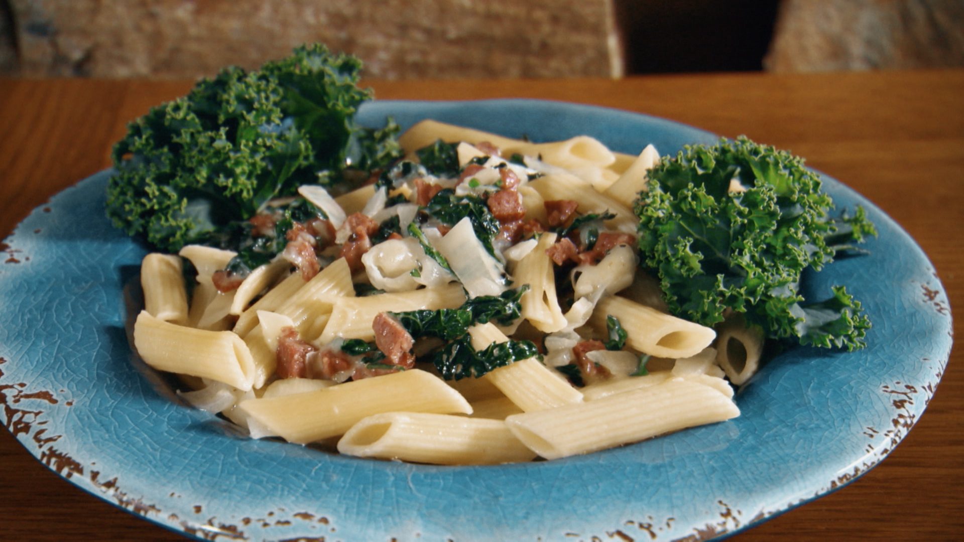 Ep 184 (Penne with Sausage and Kale)